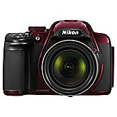 "Nikon Coolpix P520 Digital Camera, Red, 18 MP, 42x Optical Zoom, 3"" LCD"