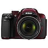 "Nikon Coolpix P520 Digital Camera, Red, 18 MP, 42x Optical Zoom, 3"" LCD"