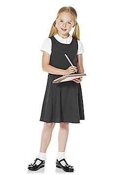 F&F School Girls Belted Pinafore - Grey