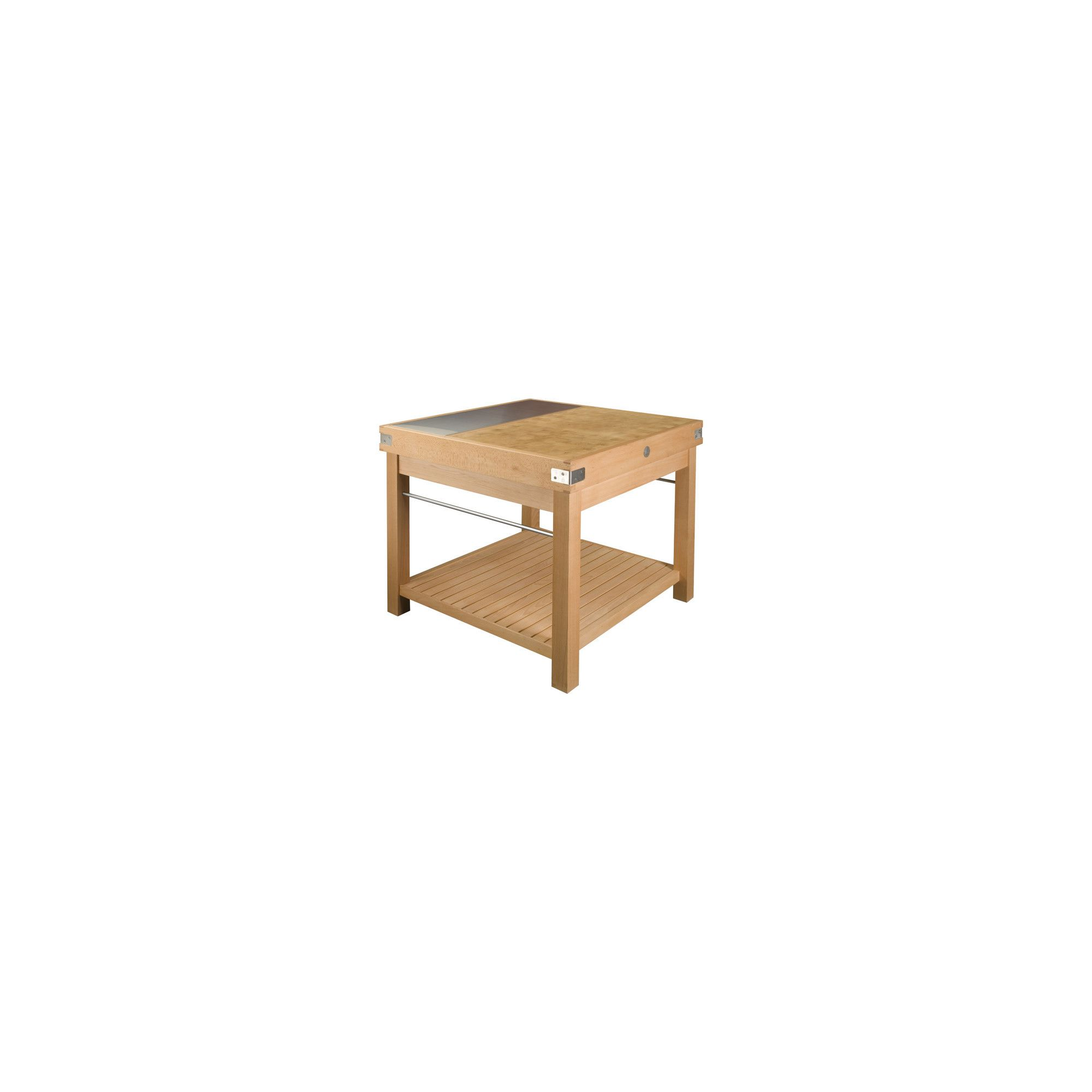Chabret Kitchen Island Block - 90cm X 120cm X 120cm at Tesco Direct