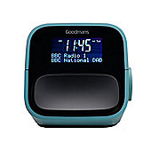 Goodmans NOD DAB+ Digital FM Radio Alarm Clock USB Charging - Light Teal