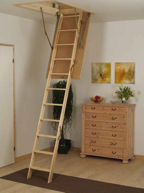EuroFold Timber Folding Loft Ladder
