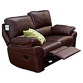 Furniture Link Monzano Two Seat Reclining Sofa in Chestnut - Black