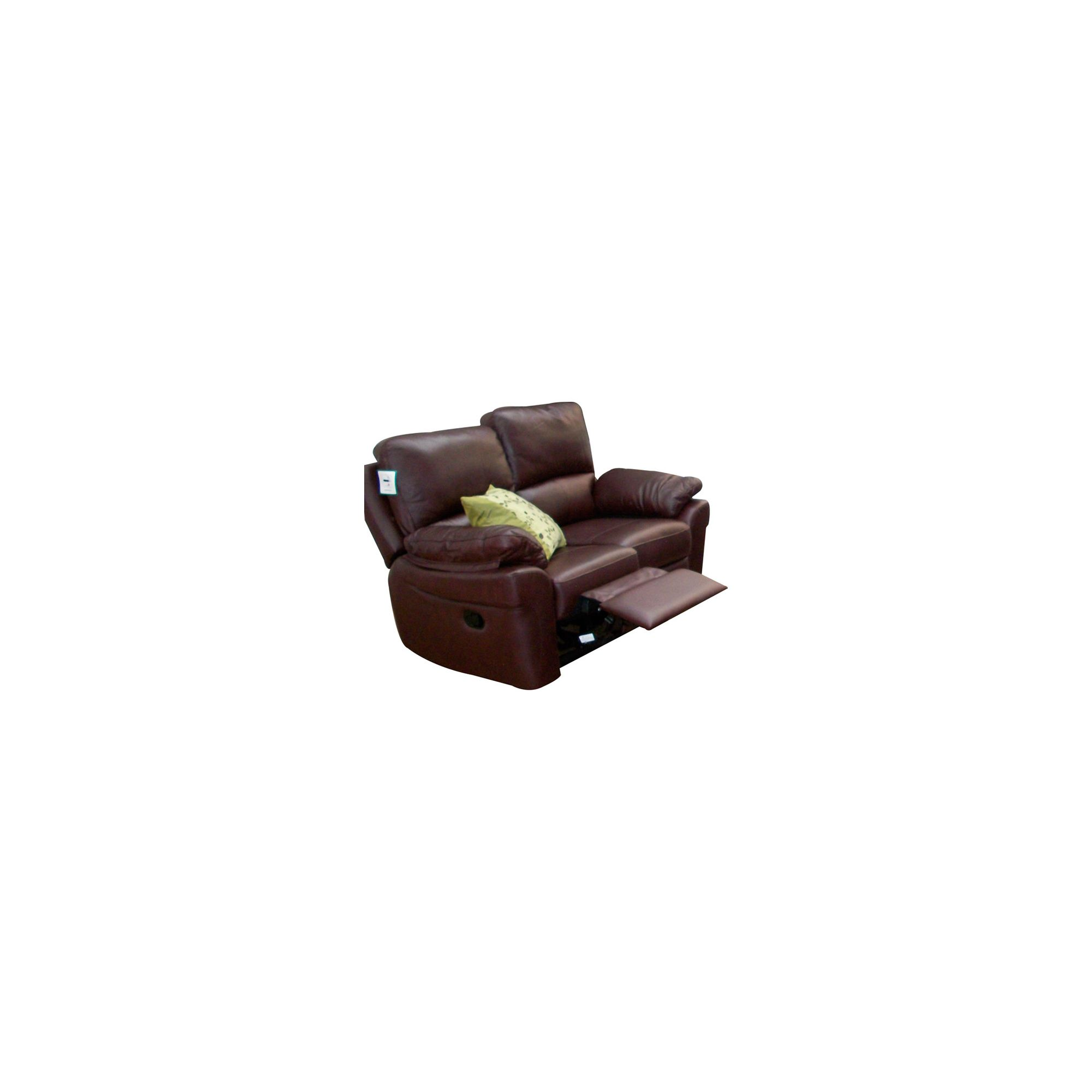 Furniture Link Monzano Two Seat Reclining Sofa in Chestnut - Black at Tesco Direct