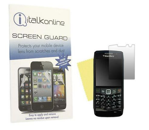 iTALKonline S-Protect LCD Screen Protector and Micro Fibre Cleaning Cloth - For  BlackBerry 9105