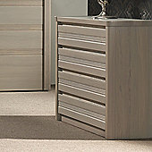 Sleepline Mundo 4 Drawers Chest - White Mat Lacquered