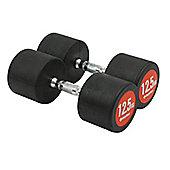 Bodymax Pro V3 Rubber Dumbbells - 12.5kg