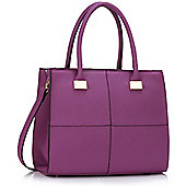 KCMODE Ladies Purple Fashion Tote Handbag