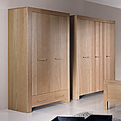 Urbane Designs Jive 2 Door 1 Drawer Wardrobe in Oak