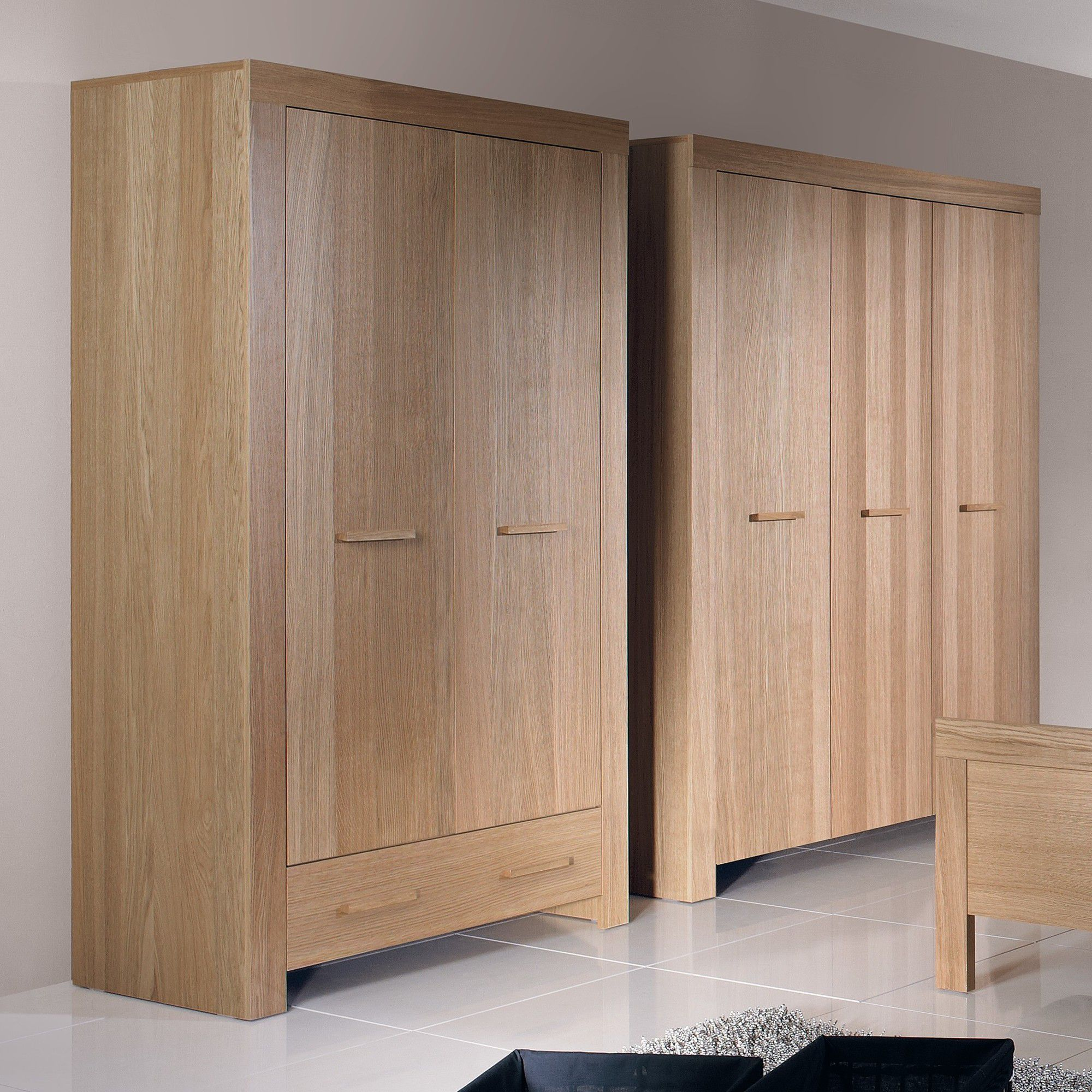 Urbane Designs Jive 2 Door 1 Drawer Wardrobe in Oak at Tescos Direct