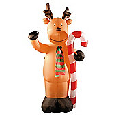 Festive 8ft Inflatable Christmas Reindeer