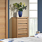 Sleepline Mundo Narrow 4 Drawer Chest - White Mat Lacquered