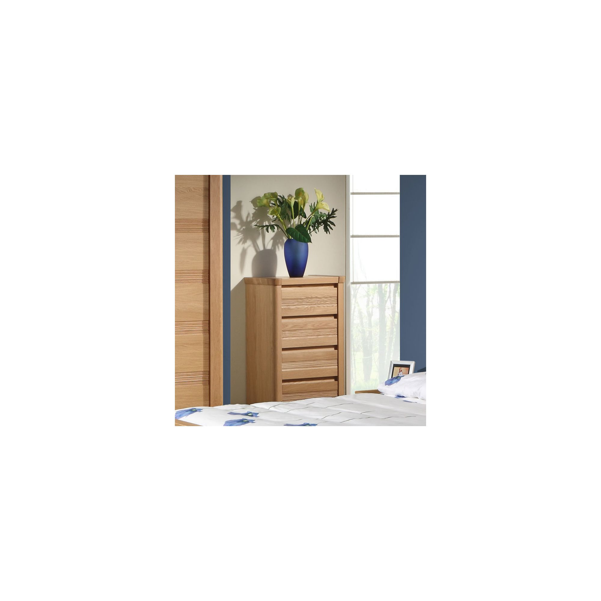 Sleepline Mundo Narrow 4 Drawer Chest - White Mat Lacquered at Tesco Direct
