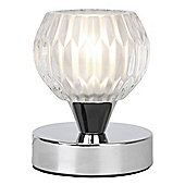 Round Touch Table Lamp in Chrome