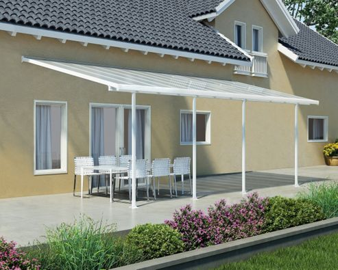 Palram Feria Lean To Carport And Patio Cover 3X8.51 White