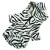Zebra Print Dog Onesie - Small