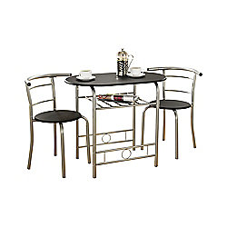 Value by Wayfair Oleander Dining Table and 2 Chairs - Black