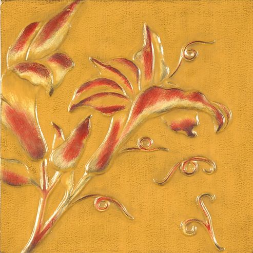 Oceans Apart Lily Yellow Wall Art