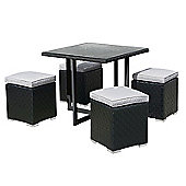 Cubo Black and Taupe Dining Set