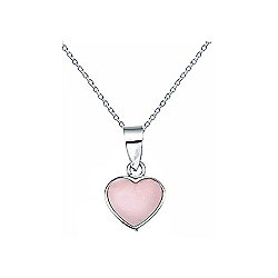 Pink Mother of Pearl Heart Pendant