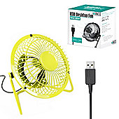 "Twitfish Metal USB Desk Fan 4"" - Yellow"