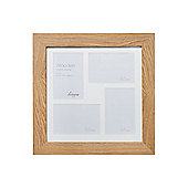 Linea Pale Wood 4 Aperture Photo Frame In Brown