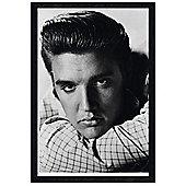 Elvis Presley Black Wooden Framed Love Me Tender Poster