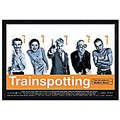 Trainspotting Cast Black Wooden Framed Irvine Welsh Poster