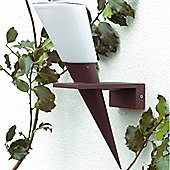 Brilliant Acari Outdoor Wall Bracket in Black - Rust