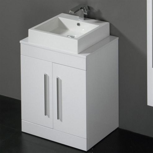Buy prestige paris floor mounted bathroom vanity unit for Bathroom cabinets 800mm high