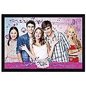 Black Wooden Framed Disney Violetta All The Gang Together Poster