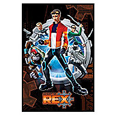 Generator Rex Gloss Black Framed Rex, The White Knight, Boho Haha and The Team Poster
