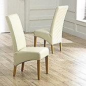 Mark Harris Furniture Roma Oak Dining Chair (Set of 2) - Brown