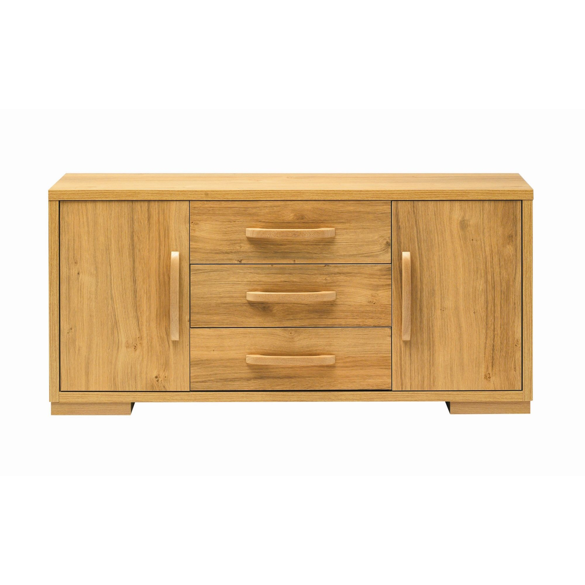 Caxton Strand Low Sideboard in Oak at Tesco Direct