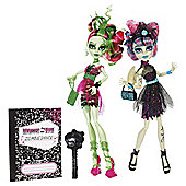 Monster High Zombie Shake Rochelle Goyle And Venus Mcflytrap Dolls 2-Pack