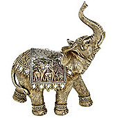 Large Decorative Indian Elephant Ornament - Gold / Silver