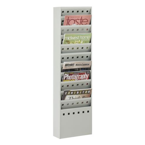 Safco Medium Steel Display Pockets in Grey