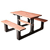 BrackenStyle Small Rectangular Picnic Table - Red