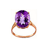 QP Jewellers 7.55ct Amethyst Valiant Ring in 14K Rose Gold