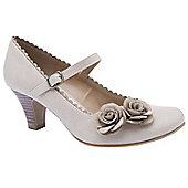 Emilio Luca X Ladies Peonie Beige Heeled Court Shoes