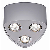 Paul Neuhaus Madura One Light Flush Mounted Ceiling Spot Light - Steel
