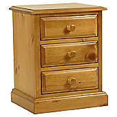 Kelburn Furniture Pine 3 Drawer Bedside Table