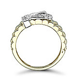 9 Carat Yellow Gold 15pts Buckle Ring