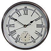 Town and Country Thermometer Wall Clock