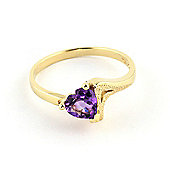 QP Jewellers 0.75ct Amethyst Devotion Heart Ring in 14K Gold