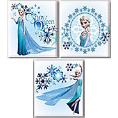 Elsa set of 3 Canvas Arts