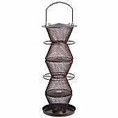 No/No Bronze Five Tier Wild Bird Feeder with Tray