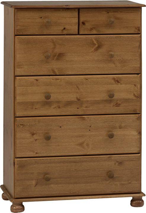 Home Essence Balham 6 Deep Drawer Chest - Pine