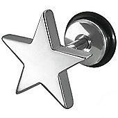 Urban Male Stainless Steel Fake Plug Star Earring 11mm
