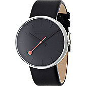 Mondaine Gents Giant Black Dial Watch A6603032815SBO